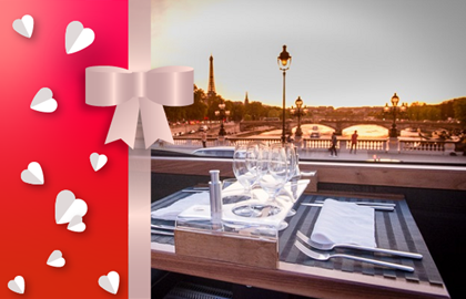 Valentine's Day gift vouchers : Paris aboard the Bustronome