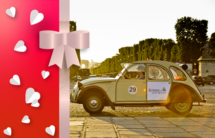 Gift Voucher Paris Highlights 2CV private tour