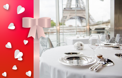 Ducasse sur Seine gift voucher: Dinner cruise 3 courses