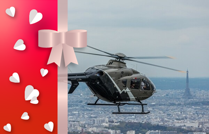 Gift voucher helicopter tour between Paris and Versailles